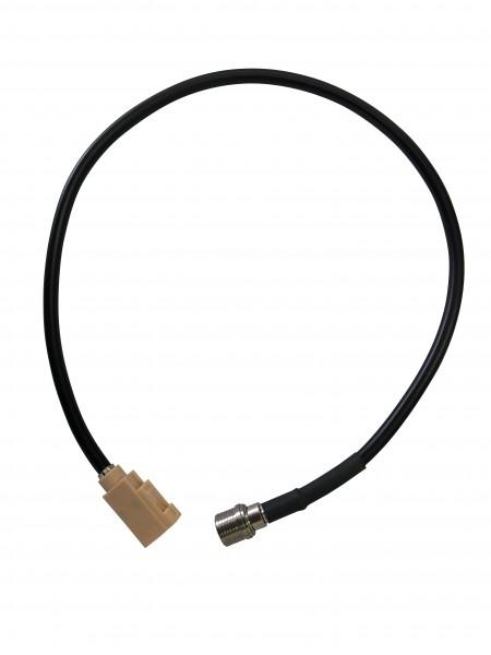 Koaxial-Adapterkabel 40cm RG58 FAKRA-I (beige) / QLS BU-ST